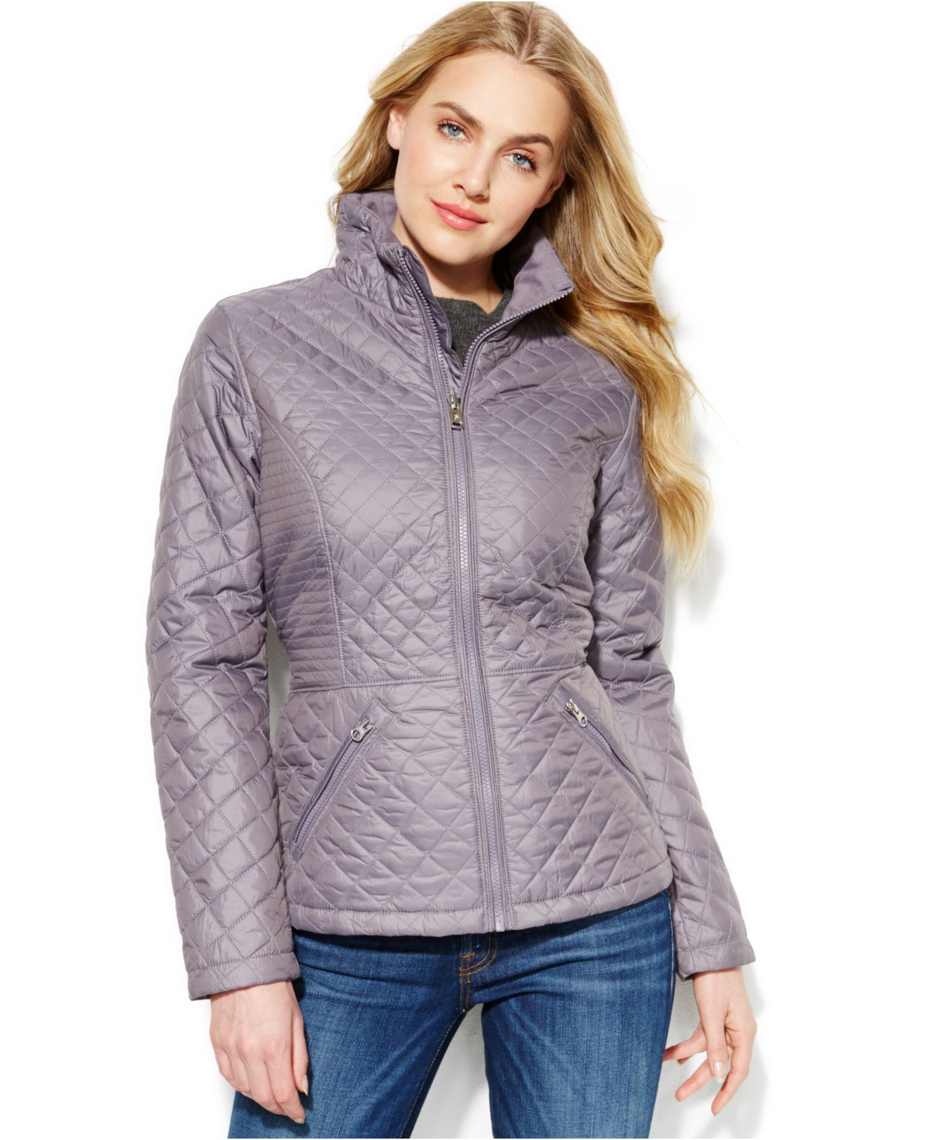 5fb0edb67302 ... coupon lyst the north face insulated luna jacket in gray 50a23 9370c