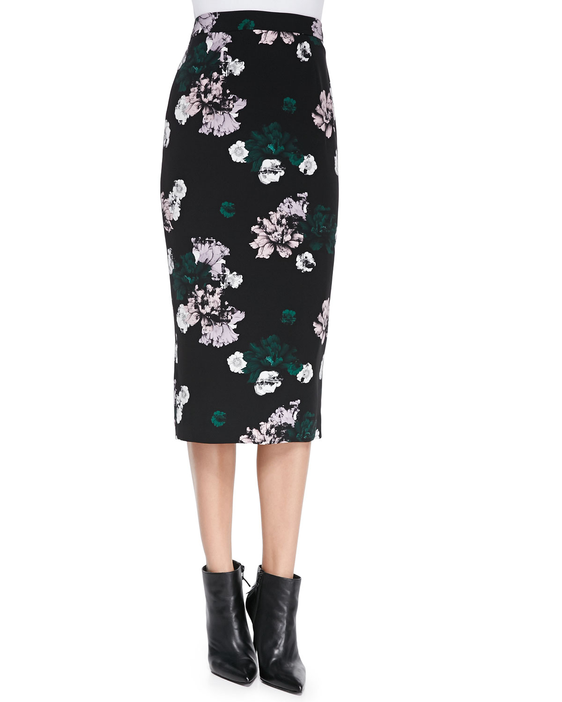 floral pencil skirt - photo #3