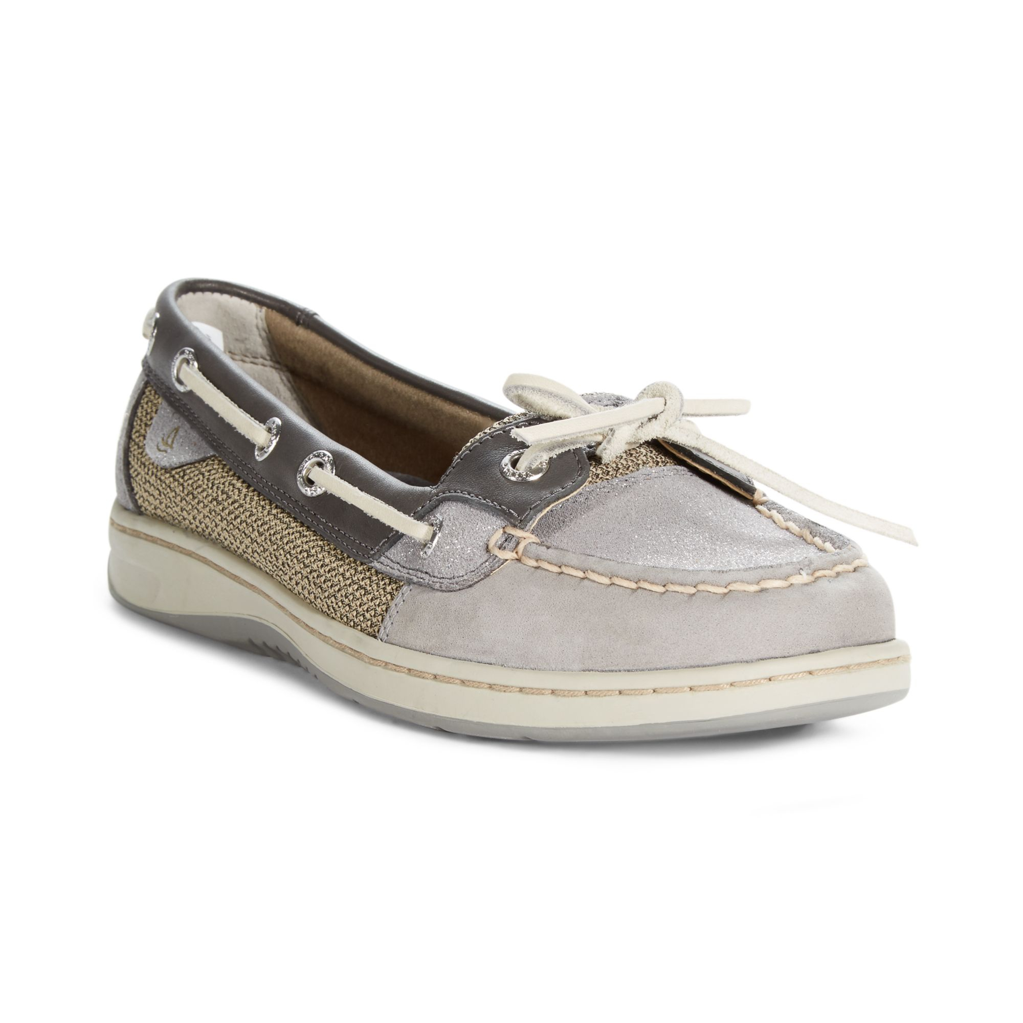 sperry top sider womens angelfish boat shoes in gray