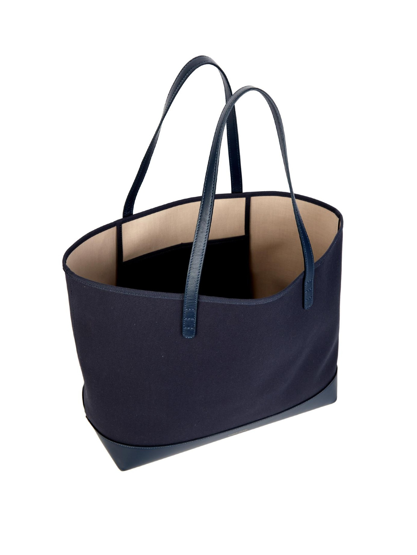 5d2298f974e6 Lyst - Mansur Gavriel Large Canvas And Leather Tote in Blue