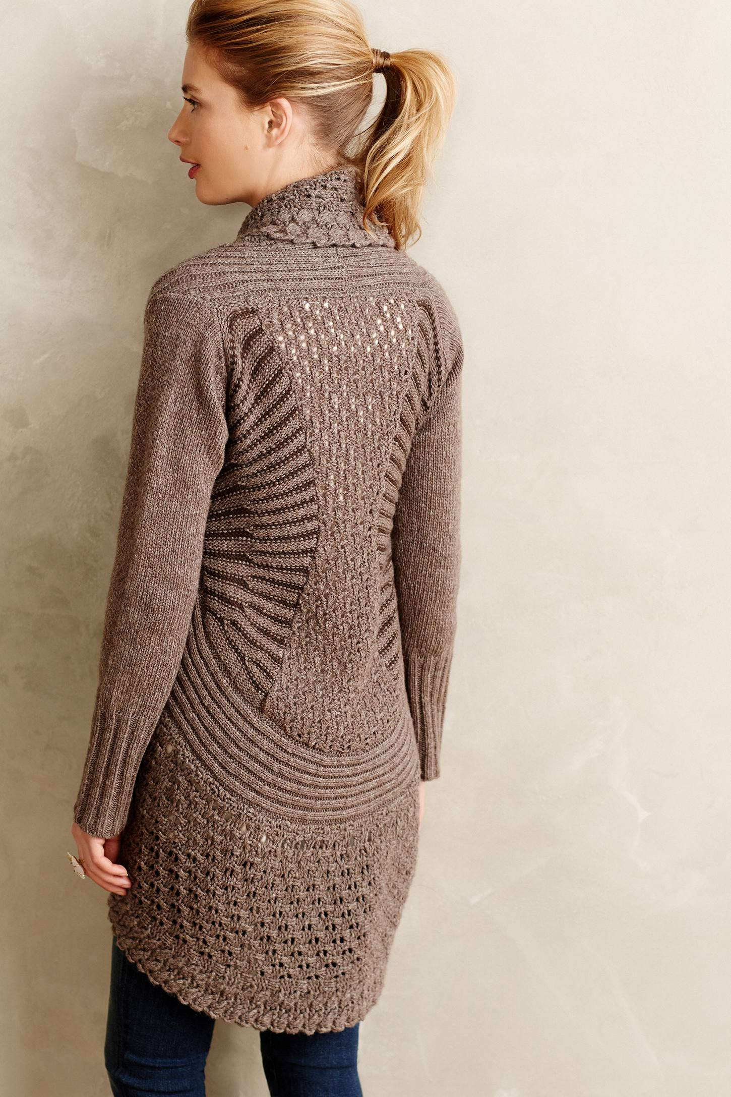 Angel of the north Deni Cocoon Cardigan in Brown | Lyst