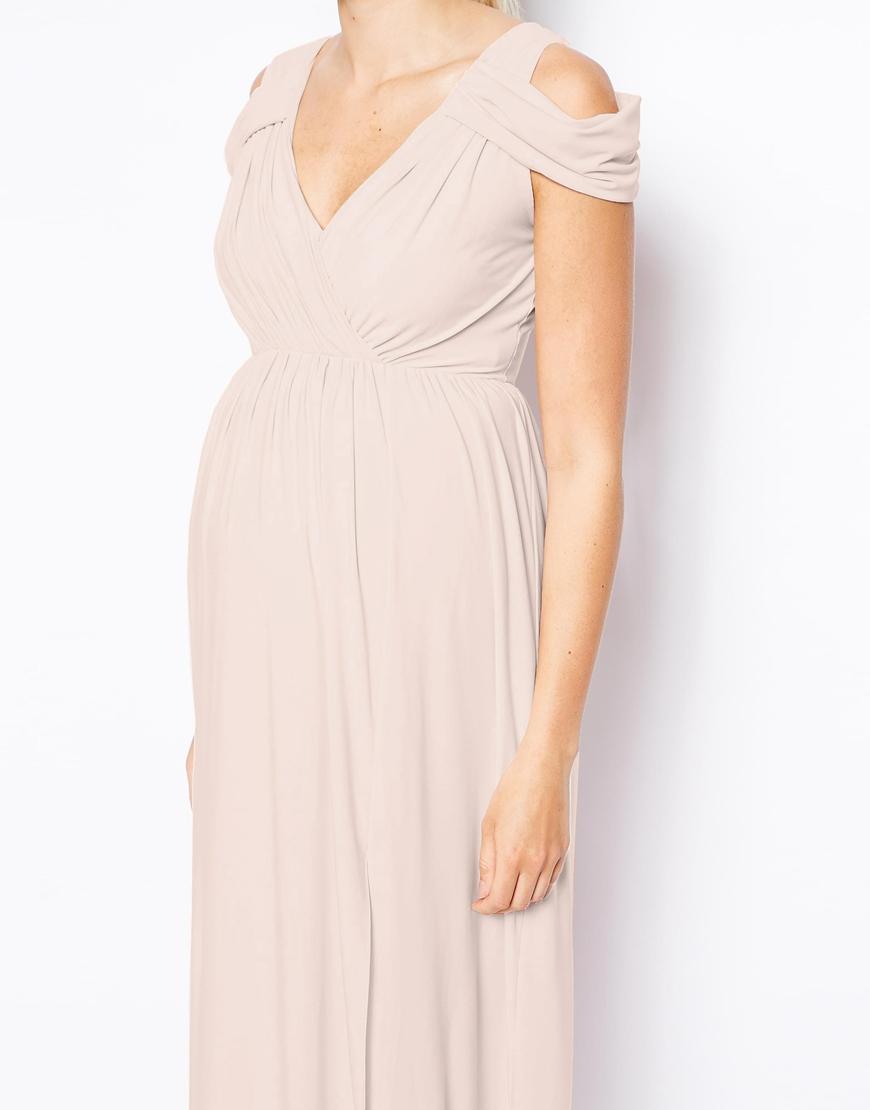 Halter neck maxi dress asos maternity