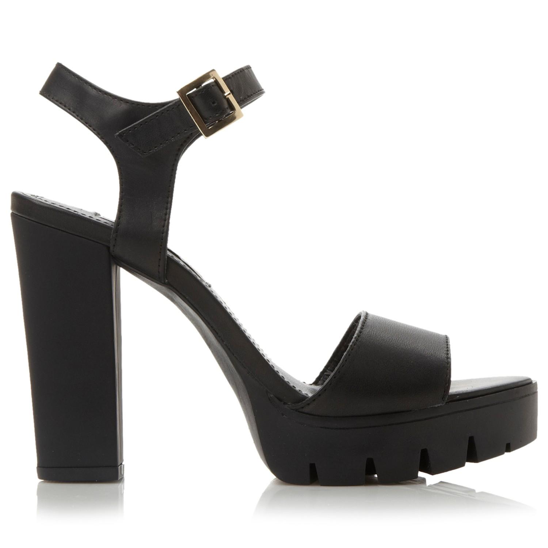 1c8733e0c455 Steve Madden Traviss Platform Block Heeled Sandals in Black - Lyst