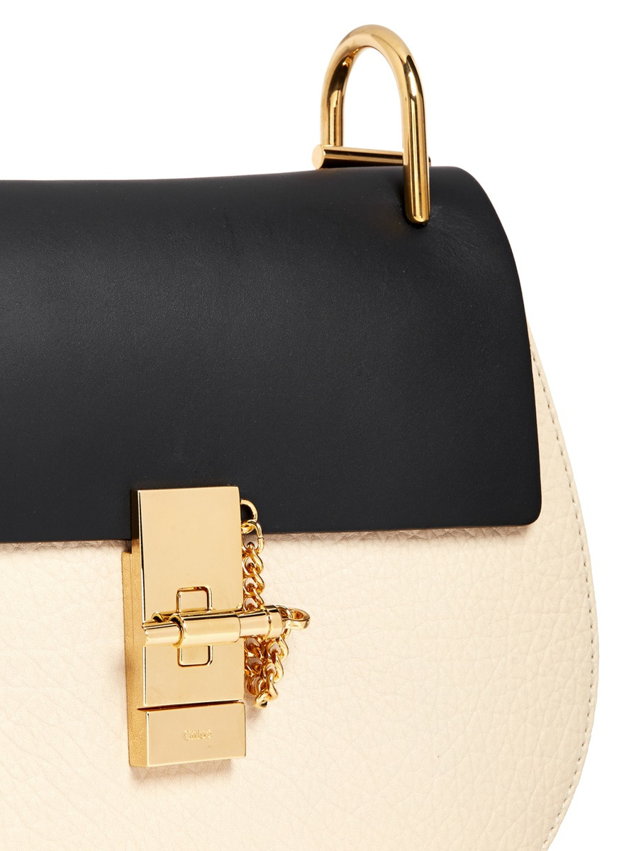 Chlo¨¦ Drew Small Two-Toned Shoulder Bag in Black (Multi-colour) | Lyst