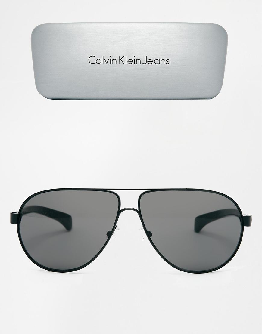 720594a02518 Lyst - Calvin Klein Ck Jeans Aviator Sunglasses in Black for Men
