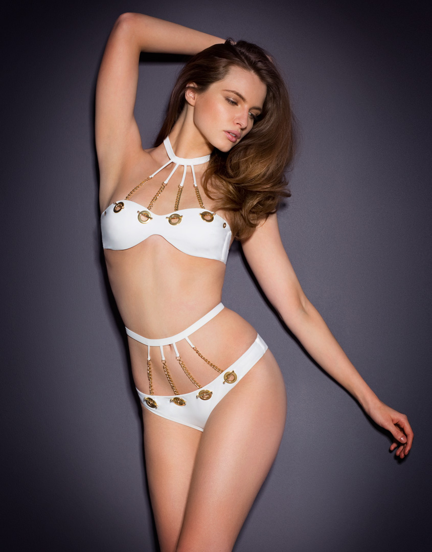 lyst agent provocateur tricja bikini bra white in white. Black Bedroom Furniture Sets. Home Design Ideas