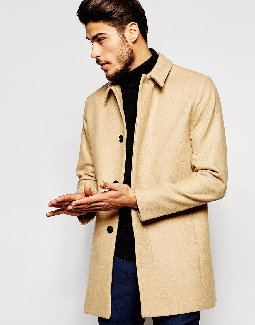 new & pre-owned designer special section cheapest sale Noak Natural Wool Trench Coat for men