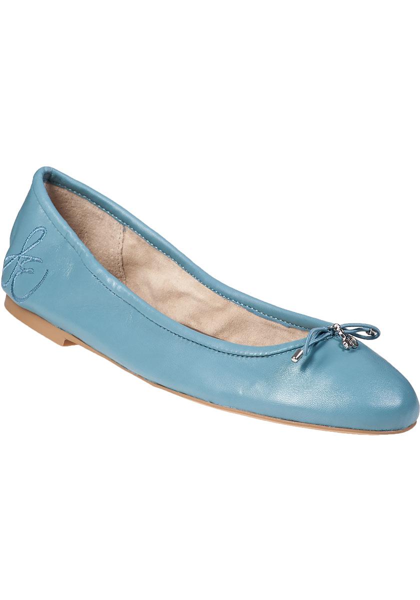 265465fc41a84 Lyst - Sam Edelman Felicia Ballet Flat New Blue Leather in Blue