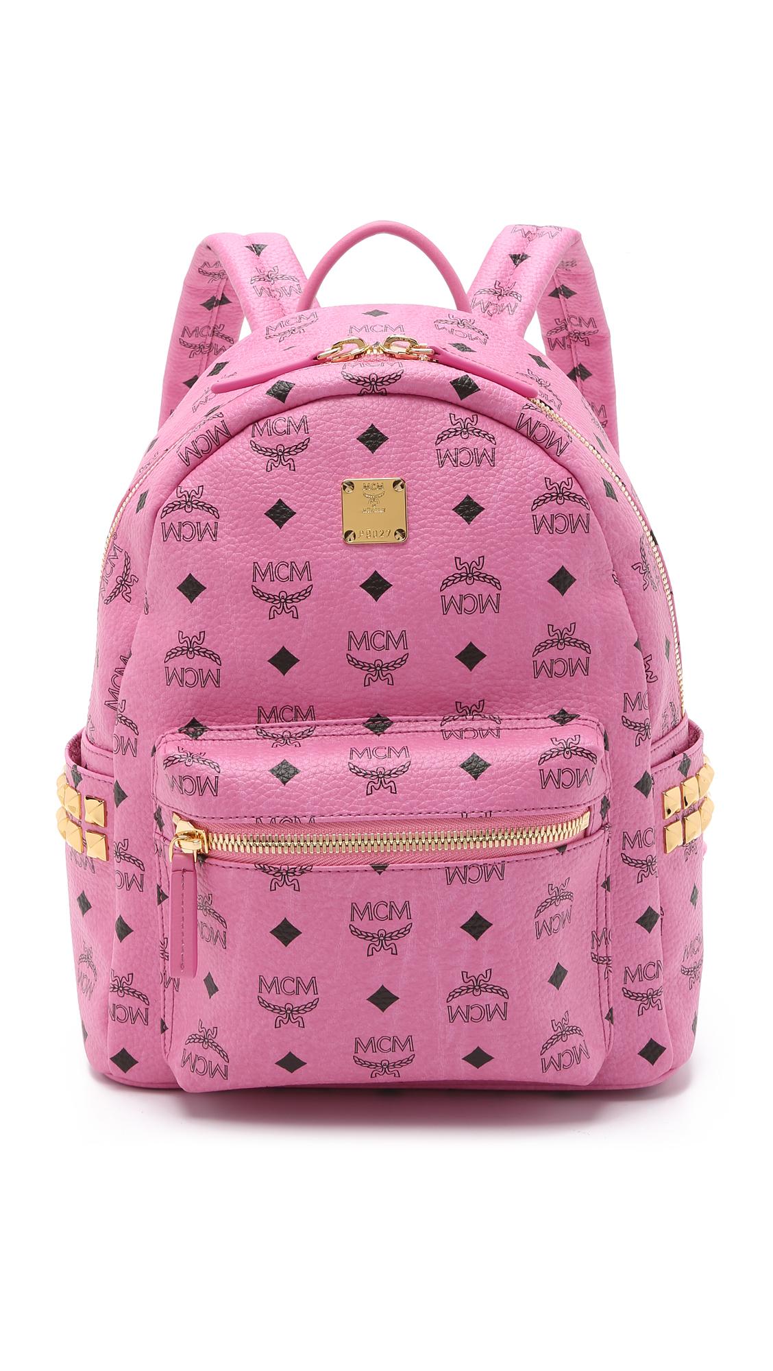 Mcm Stark X Mini Side Stud Backpack In Pink Lyst
