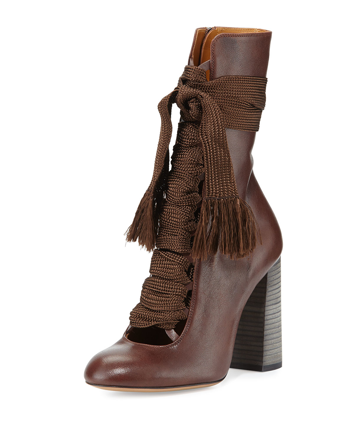 chlo chlo suede ankle boots green in brown lyst. Black Bedroom Furniture Sets. Home Design Ideas