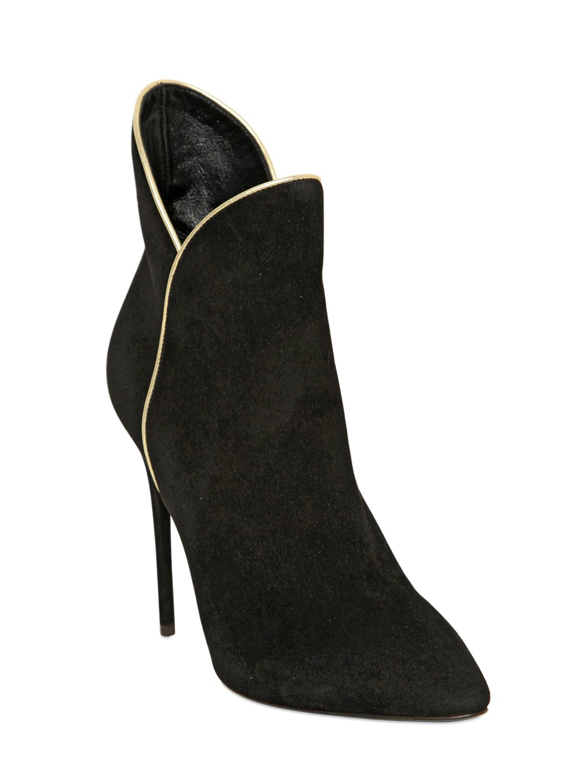 giuseppe zanotti 115mm suede ankle boots in black lyst