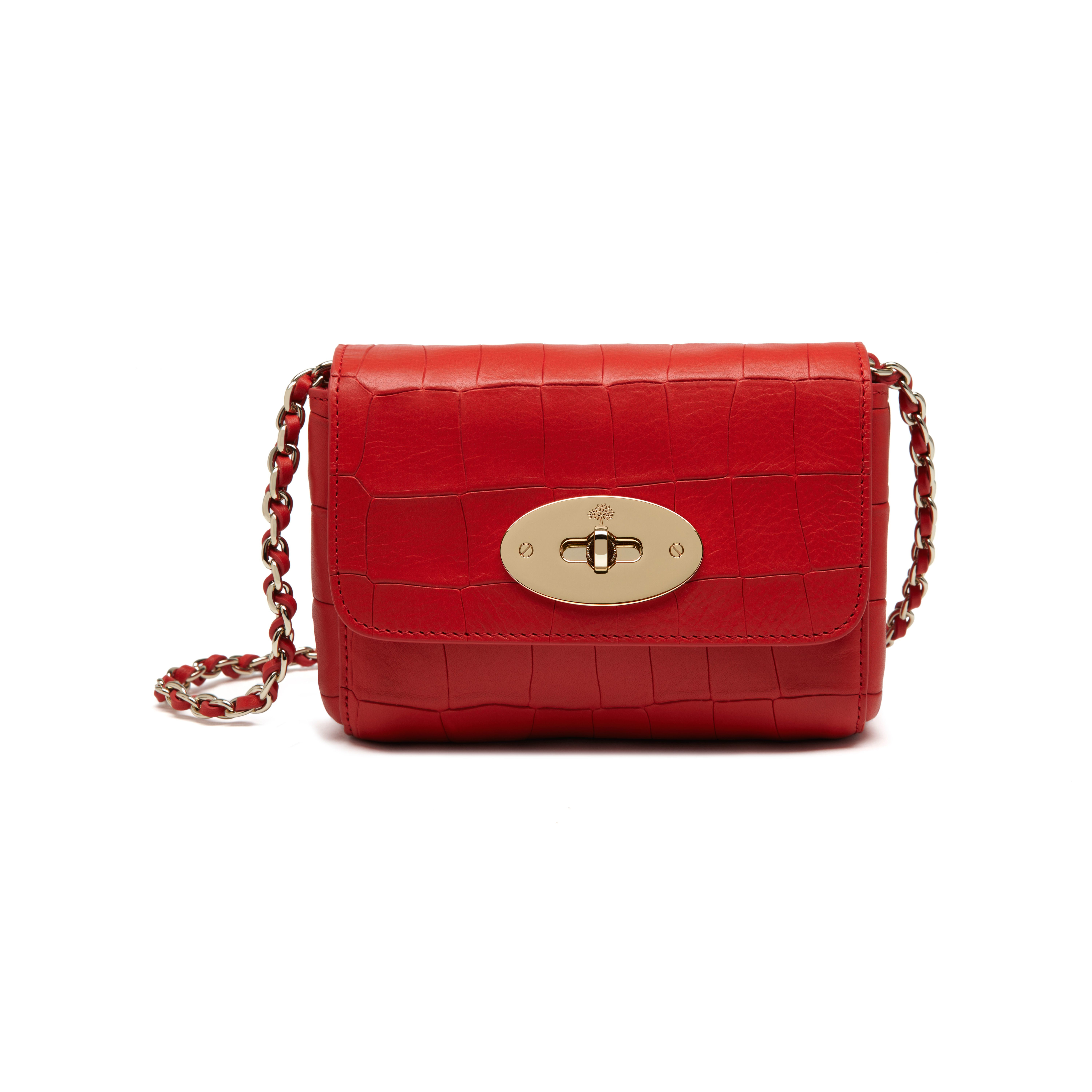ff541e2736 Lyst - Mulberry Mini Lily Leather Bag in Red