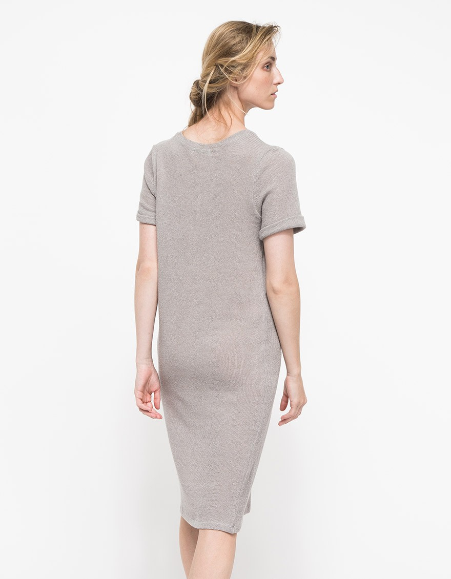 Lyst Which We Want Boyfriend Tee Dress In Gray