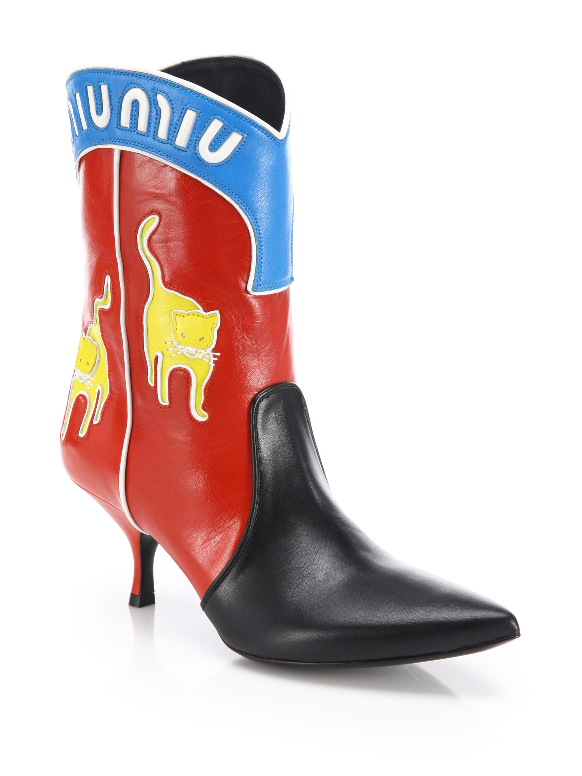 Miu Miu Leather Cowboy Boots PC8vFt
