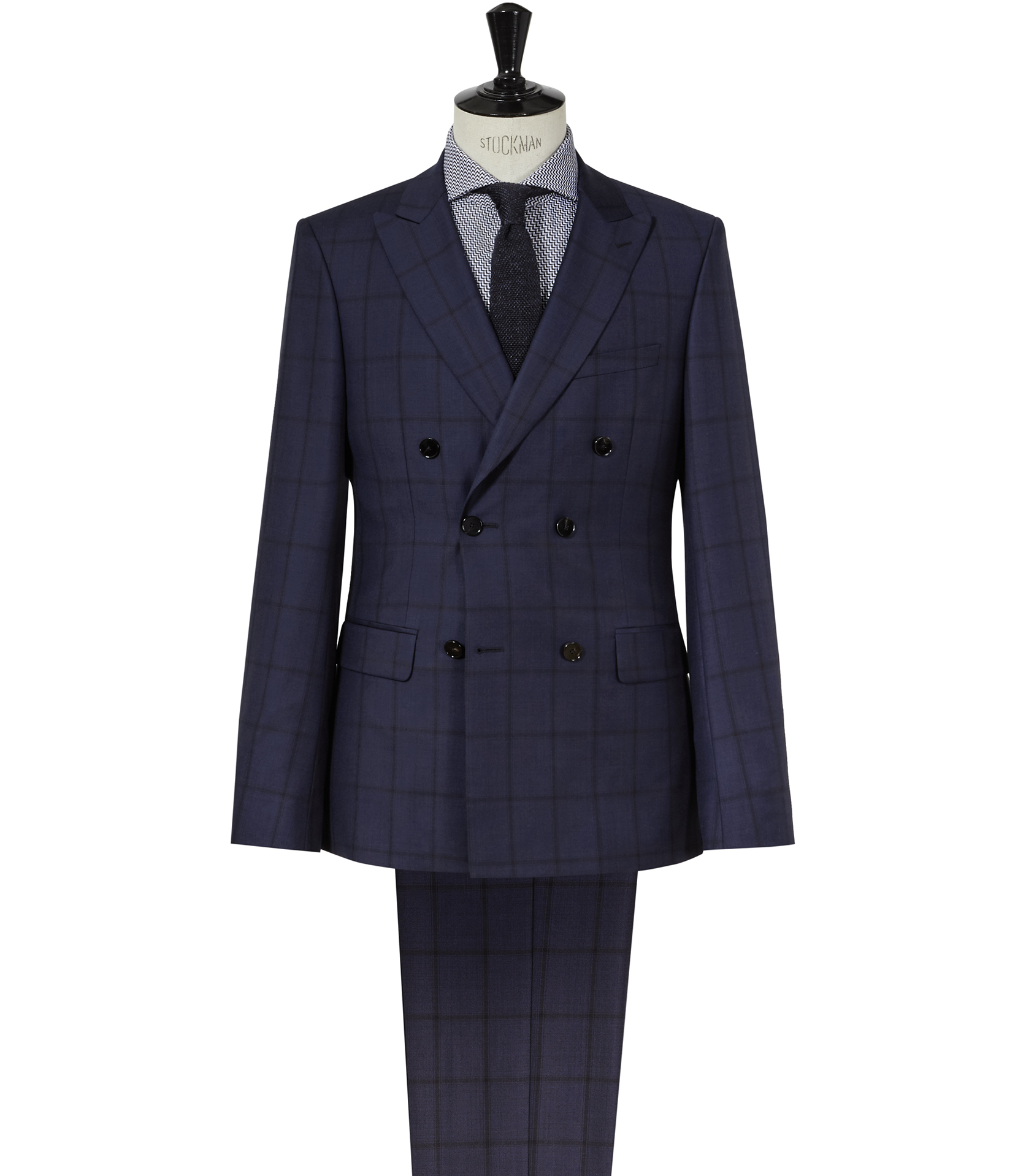 Reiss Constantine Double-breasted Wool Suit in Blue for Men | Lyst