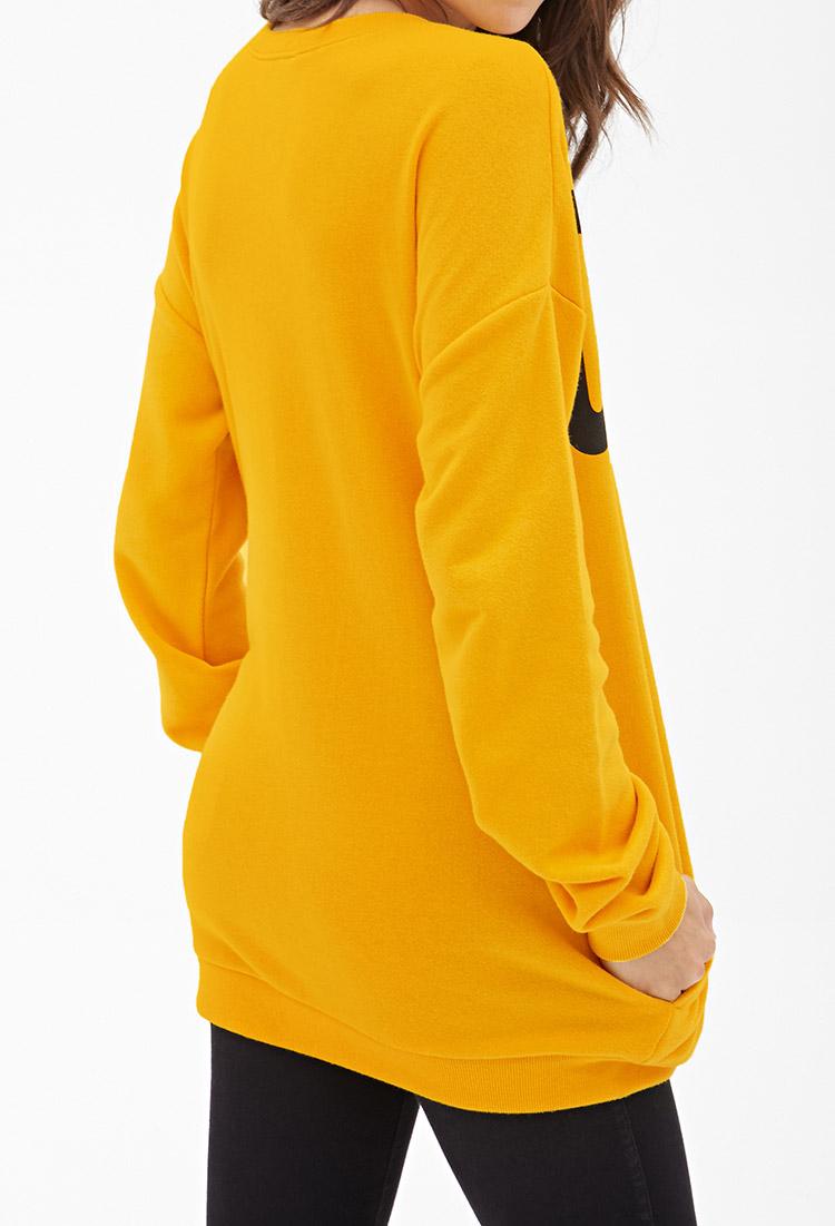 Forever 21 Charlie Brown Sweatshirt in Yellow | Lyst
