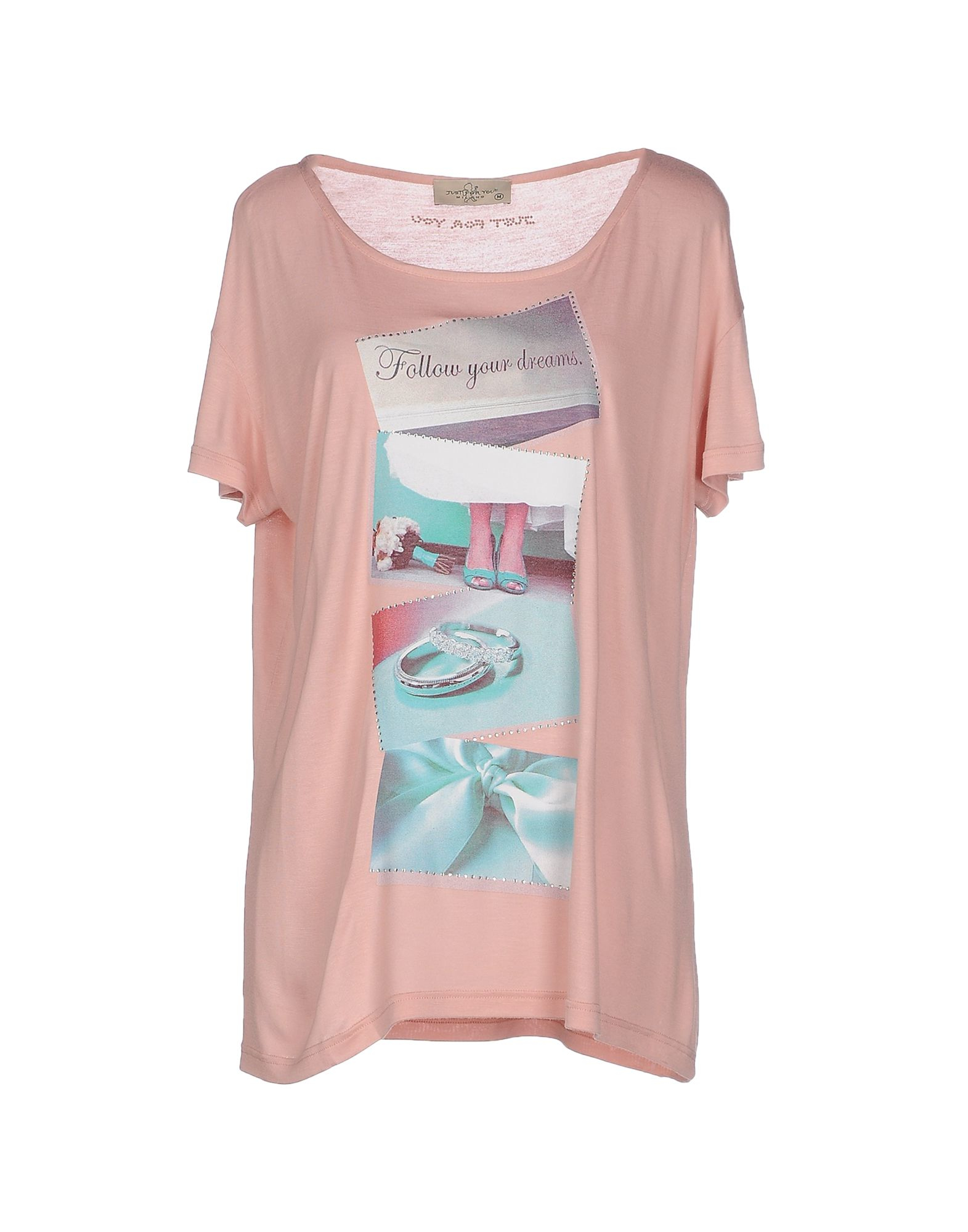Just For You T Shirt In Pink Lyst
