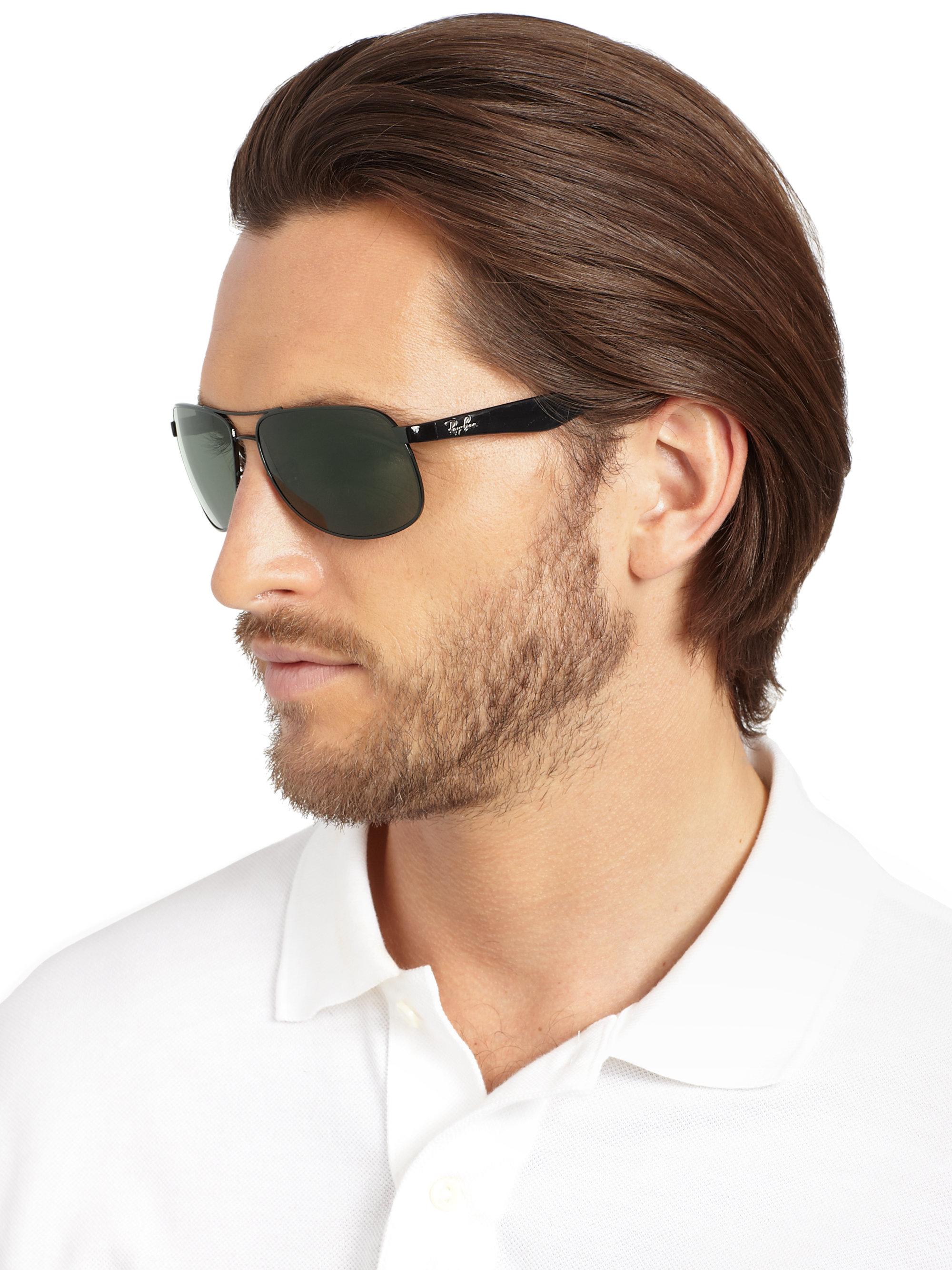 6499349fd7 Lyst - Ray-Ban Highstreet 61mm Pilot Sunglasses in Black for Men