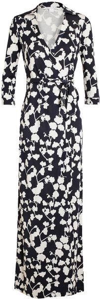 Dvf Abigail Print Silk Wrap Maxi Dress Printed Silk Wrap Maxi