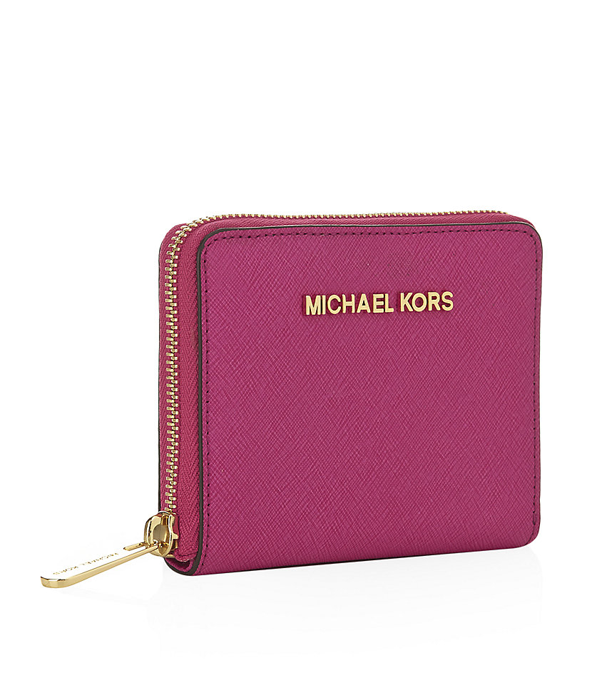 06519ba4f323db ... best michael michael kors small jet set travel wallet in pink lyst  81f31 15ce2