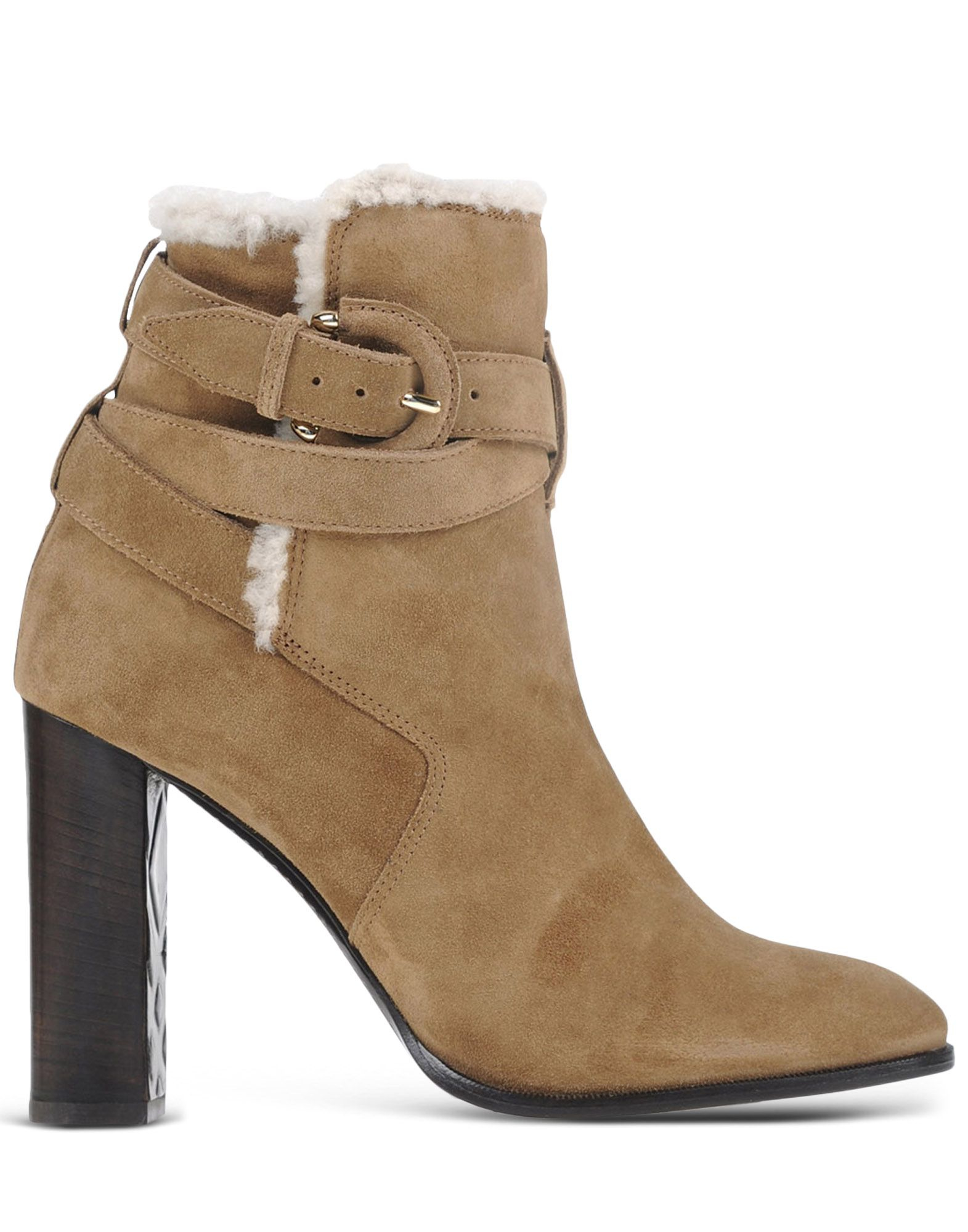 burberry suede ankle boots in khaki lyst. Black Bedroom Furniture Sets. Home Design Ideas