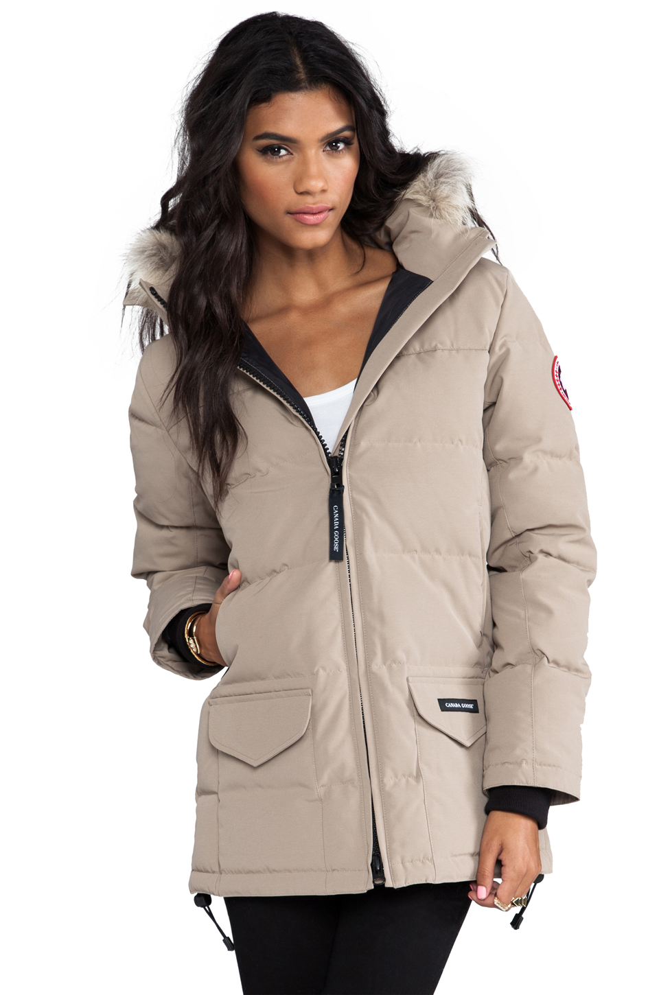 Lyst - Canada Goose Solaris Parka With Coyote Fur in Brown fbc6f11ee