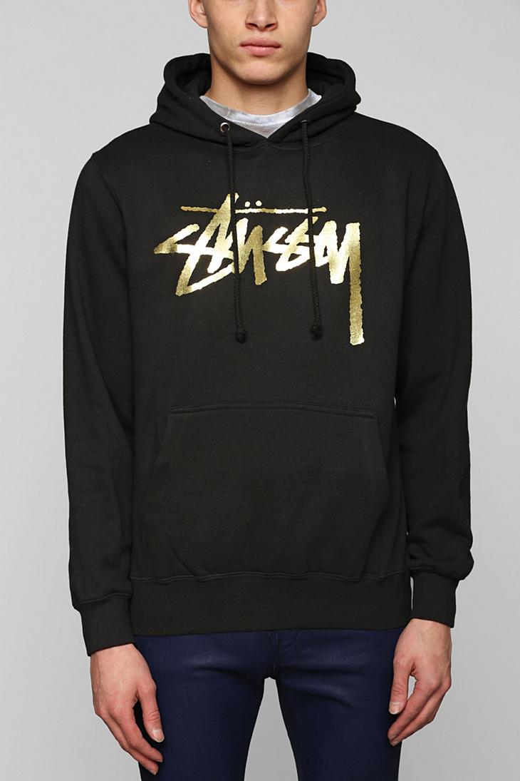 c21f2d1f2 Stussy Gold Stock Pullover Hoodie Sweatshirt in Black for Men - Lyst