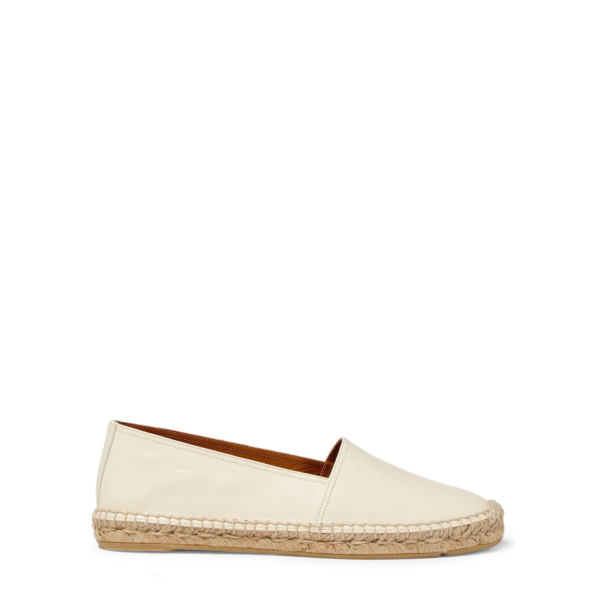 polo ralph lauren jo nappa leather espadrille in white lyst. Black Bedroom Furniture Sets. Home Design Ideas