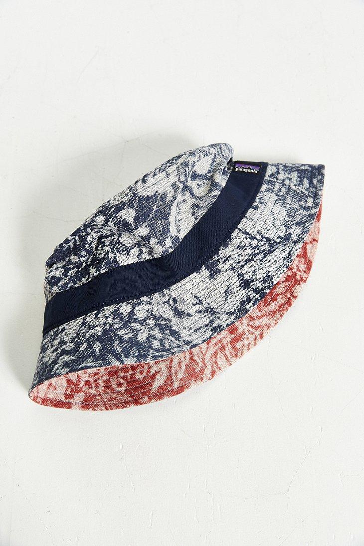 84c65009a74 Lyst - Patagonia Printed Wavefarer Bucket Hat for Men