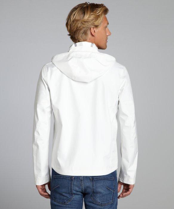 Ermenegildo zegna Sport White Lightweight Microfiber Hooded Jacket ...
