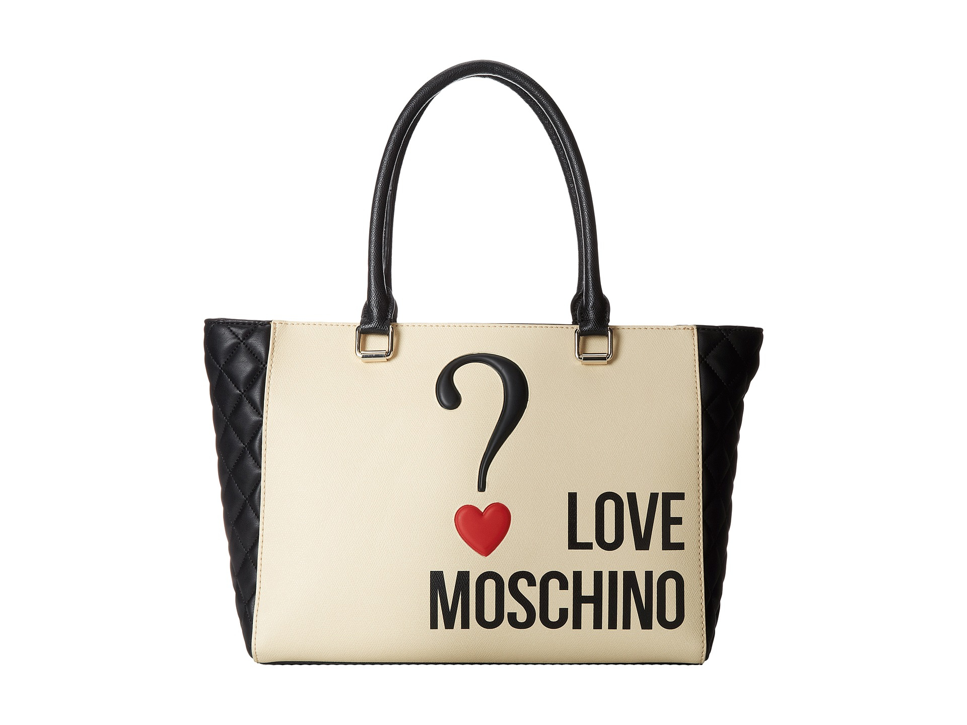 c06a4b00c6 Love Moschino Question Mark Bag in White - Lyst