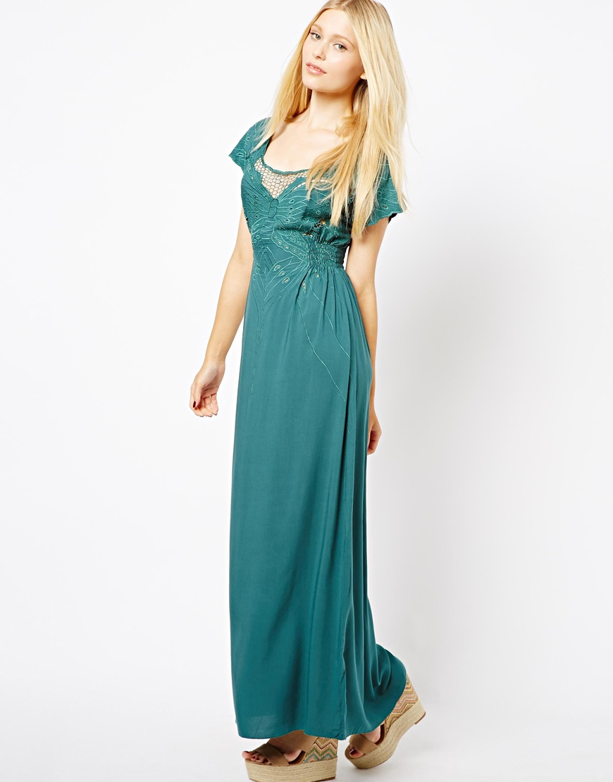Sugarhill boutique butterfly maxi dress