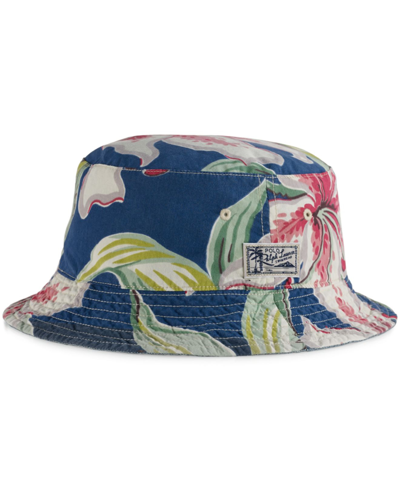 Lyst - Polo Ralph Lauren Big And Tall Reversible Tropical Bucket Hat ... a8a16d7f1024