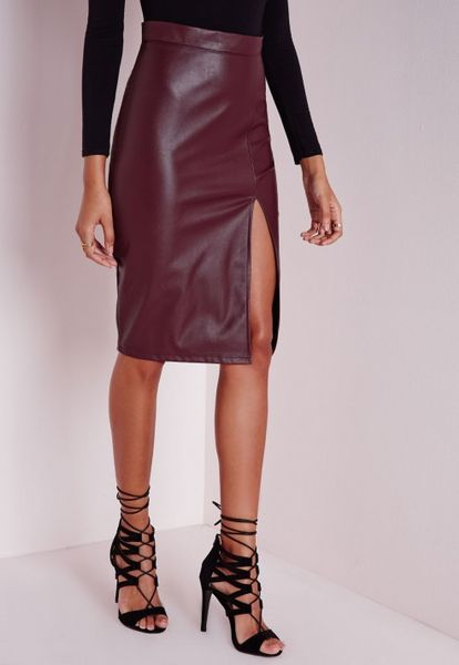 purple faux leather skirt newhairstylesformen2014