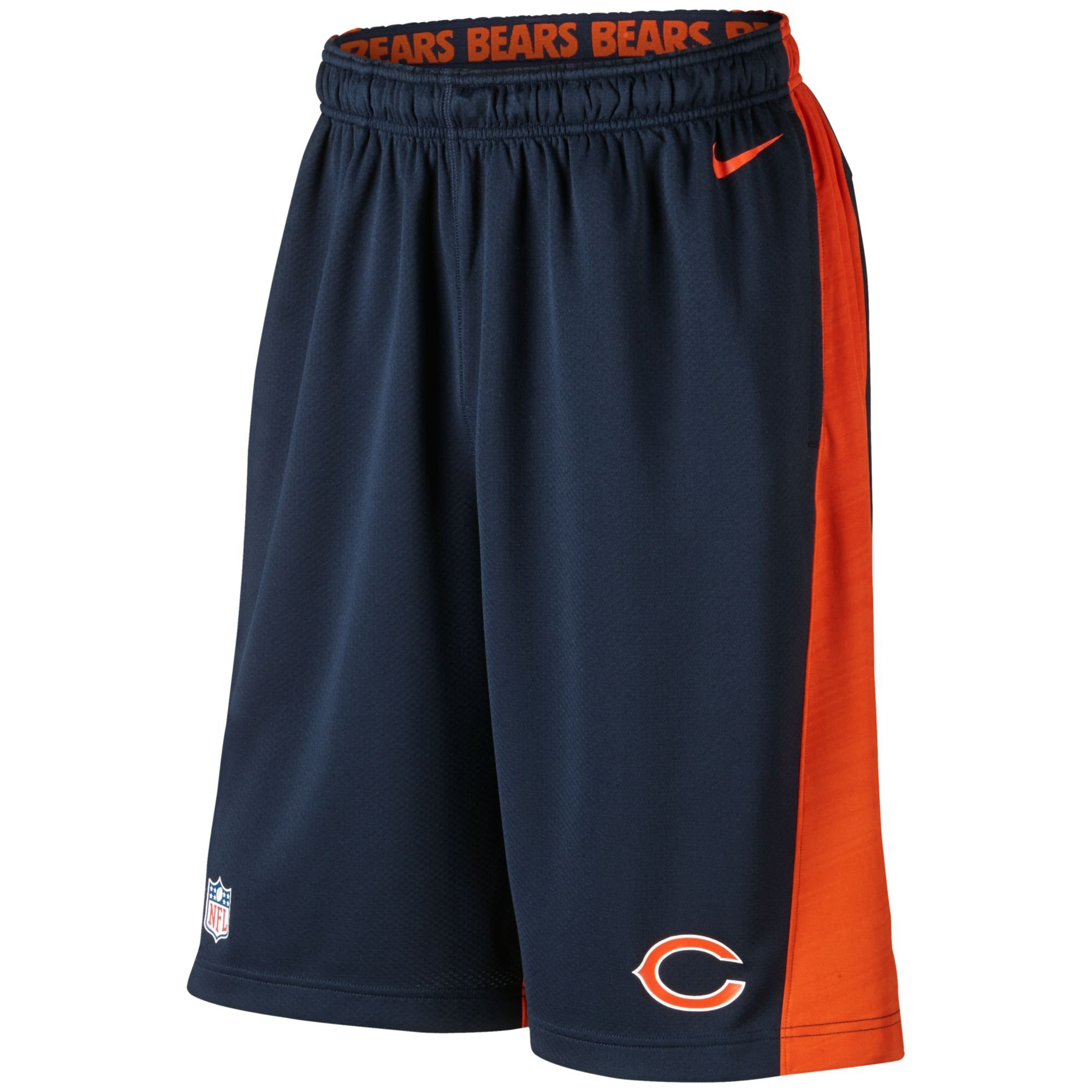 Nike Men's Chicago Bears Fly Xl Dri-fit Shorts in Orange ...
