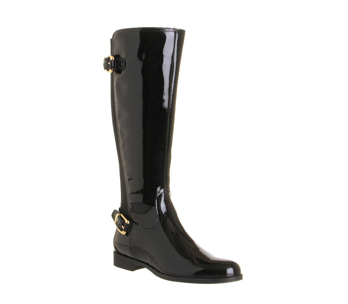 office 2 elastic back knee boots in black lyst