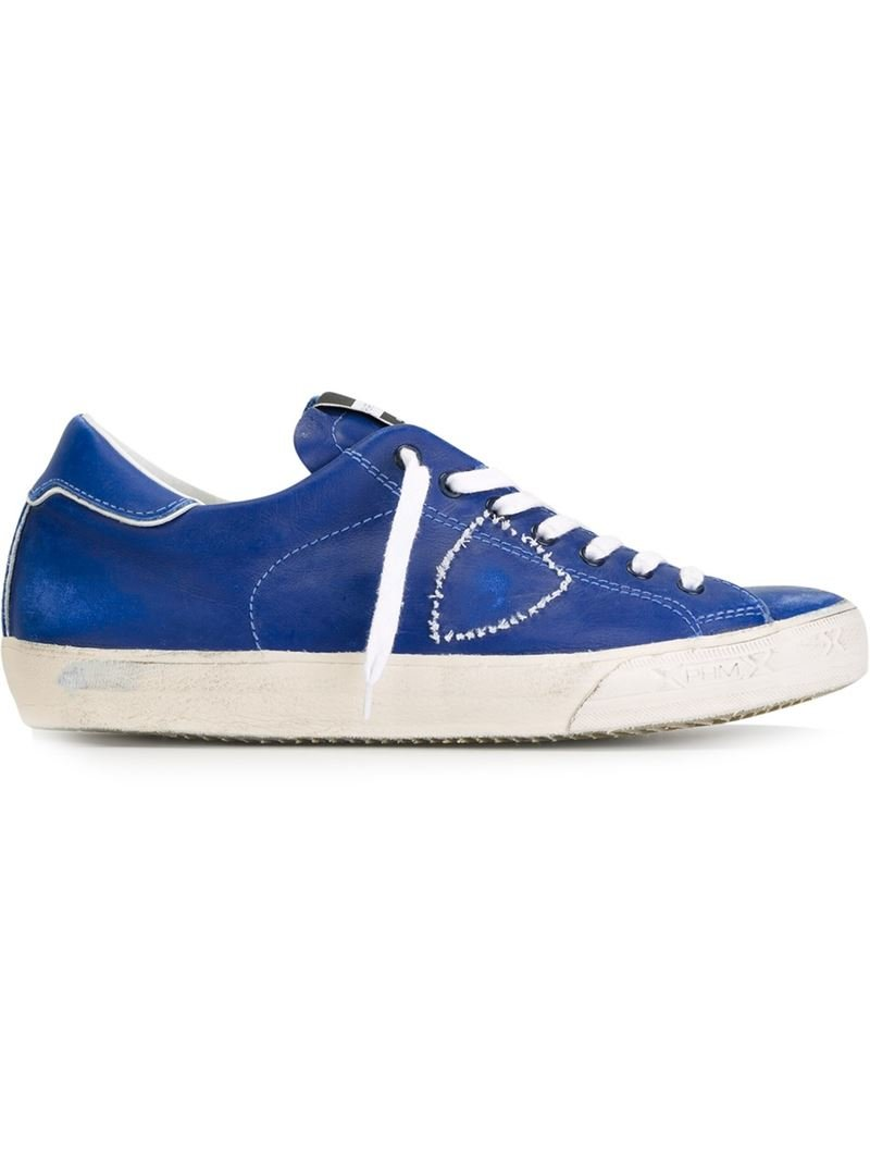 philippe model low top sneakers in blue for men lyst. Black Bedroom Furniture Sets. Home Design Ideas