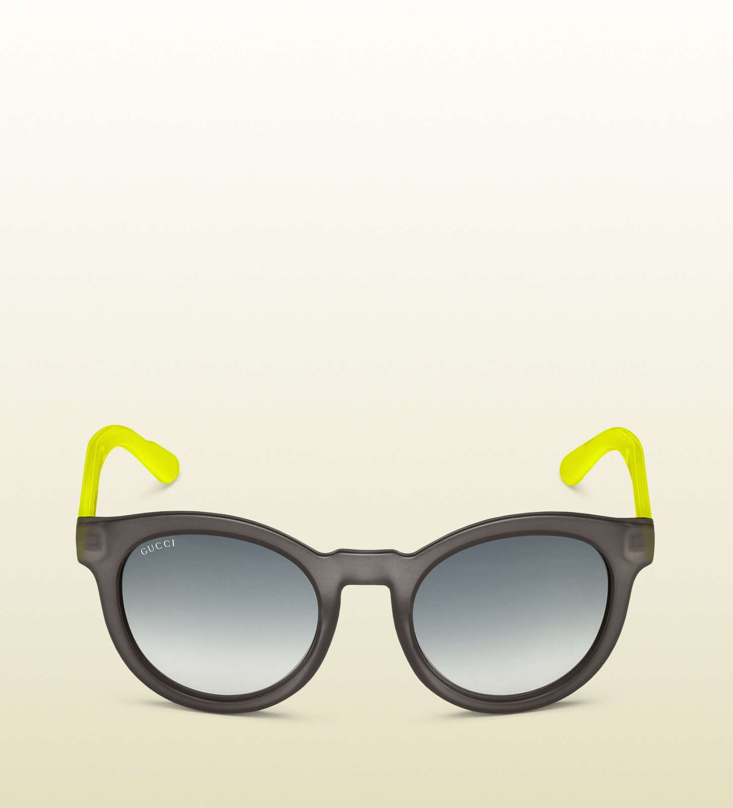 Gucci Round Vintage Inspired Biobased Sunglasses in Yellow ...