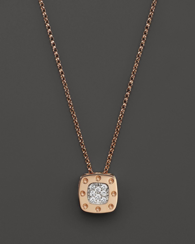 Pink Gold Necklace Diamonds