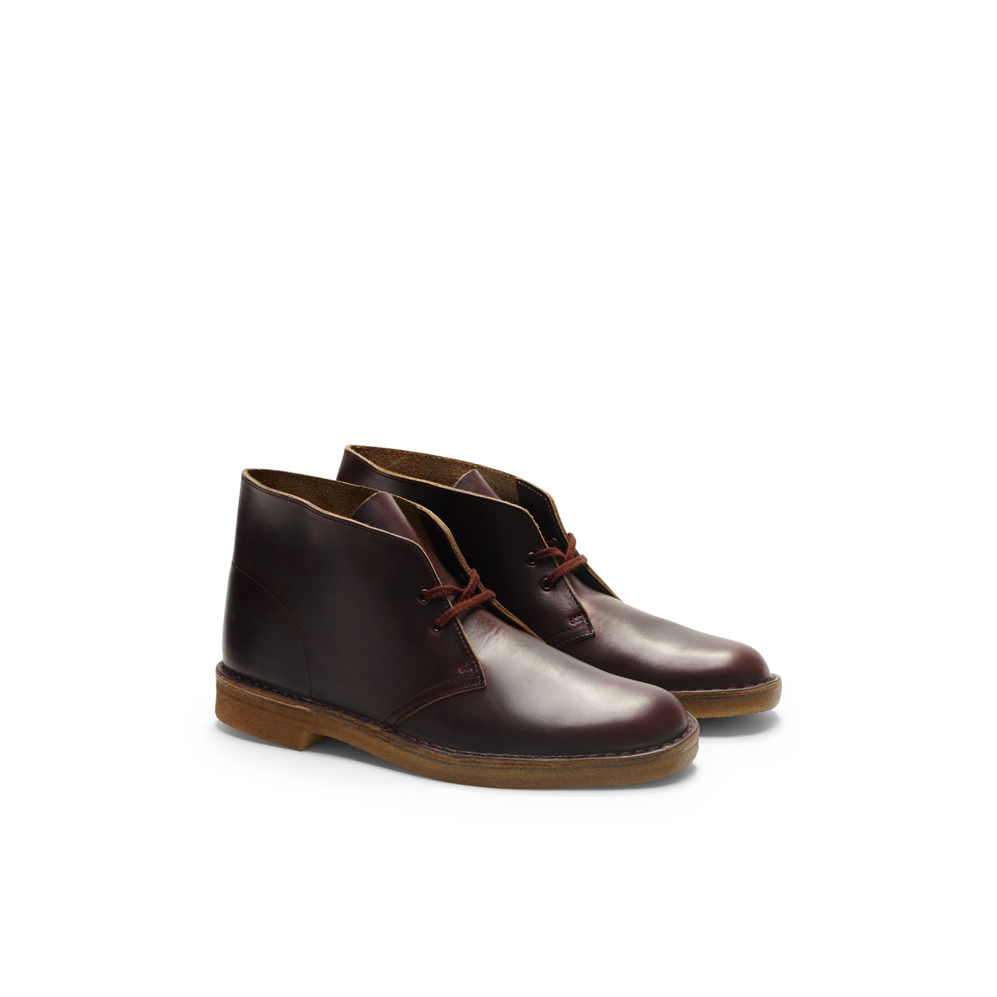 Clarks Burgundy Suede Shoes