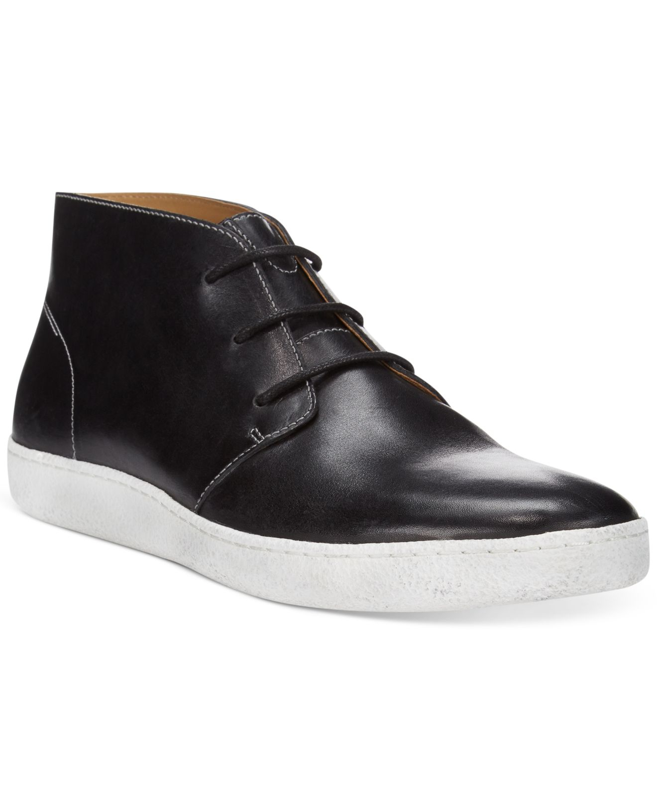 cole haan glenn cupsole chukka boots in black for lyst