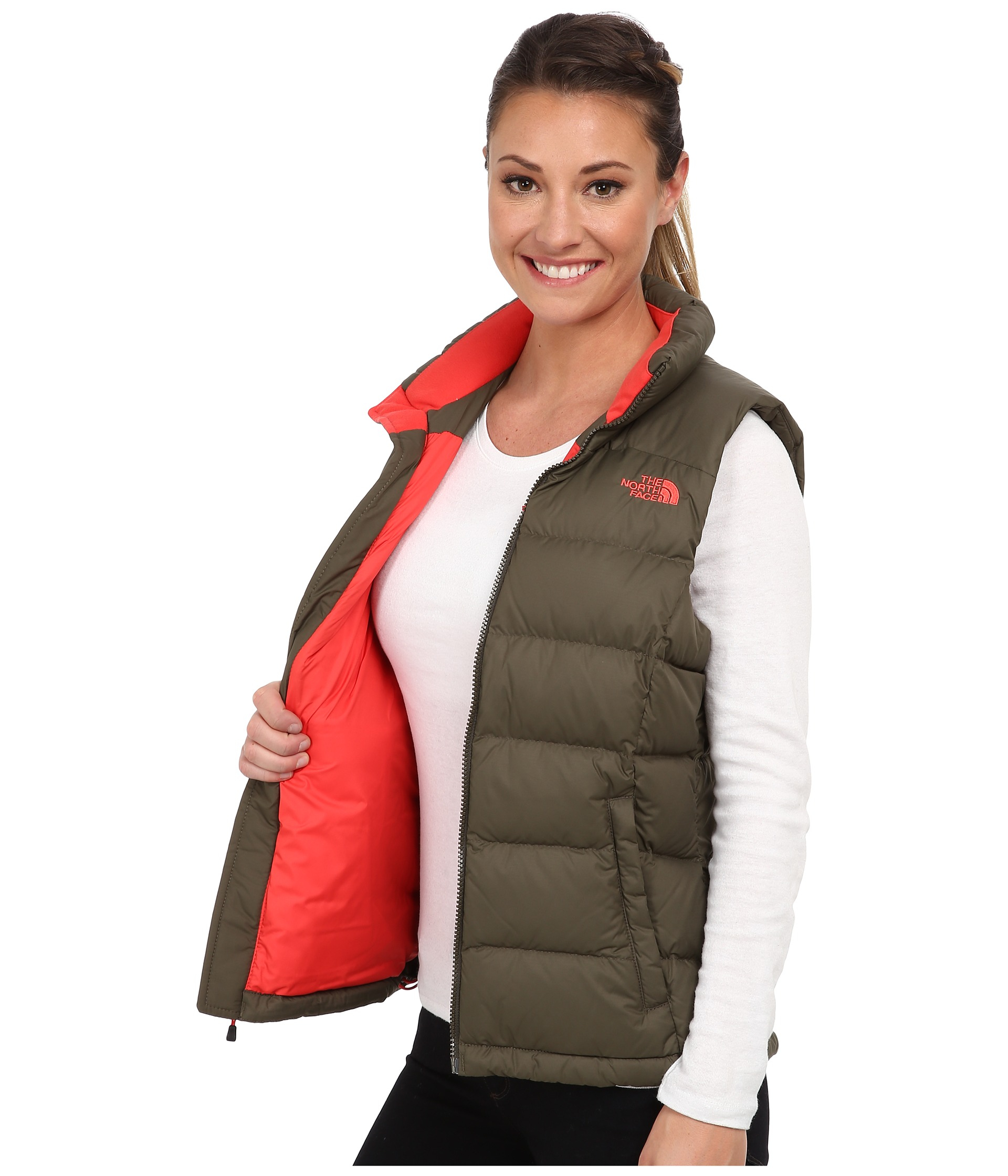... discount lyst the north face nuptse 2 vest in brown 4943f 22b0f 7fde570a0