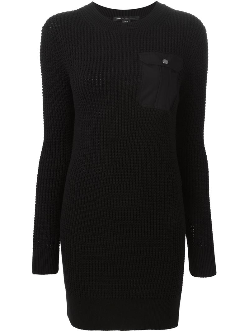 3aeae0b39c4 Lyst - Marc By Marc Jacobs Pima Sweater Dress in Black