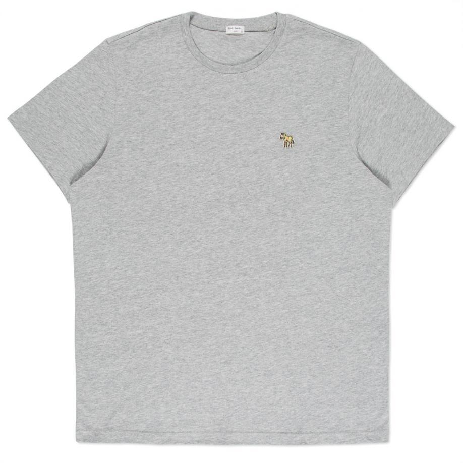 Paul smith men 39 s grey marl zebra logo t shirt in gray for for Grey marl t shirt
