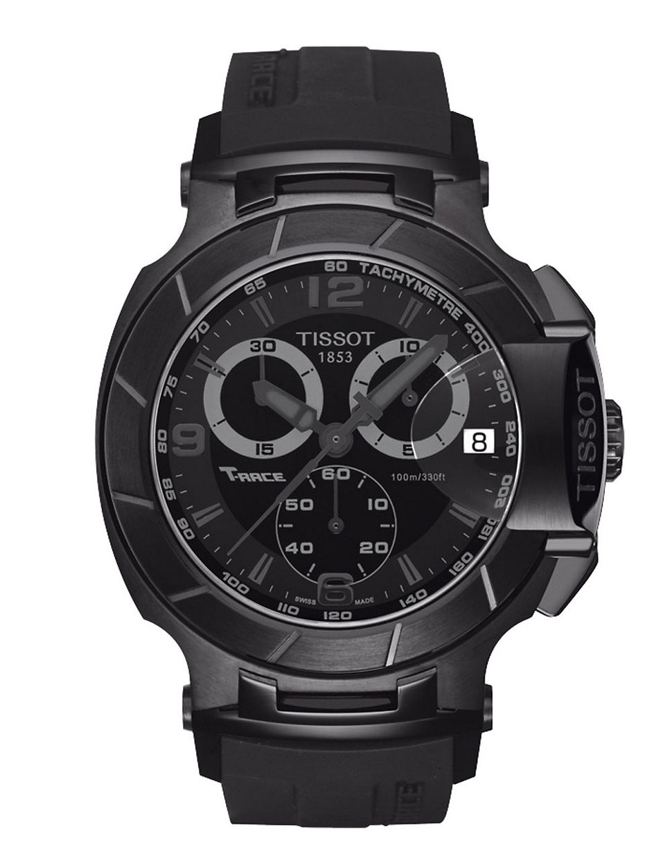 tissot s t race black quartz chronograph sport