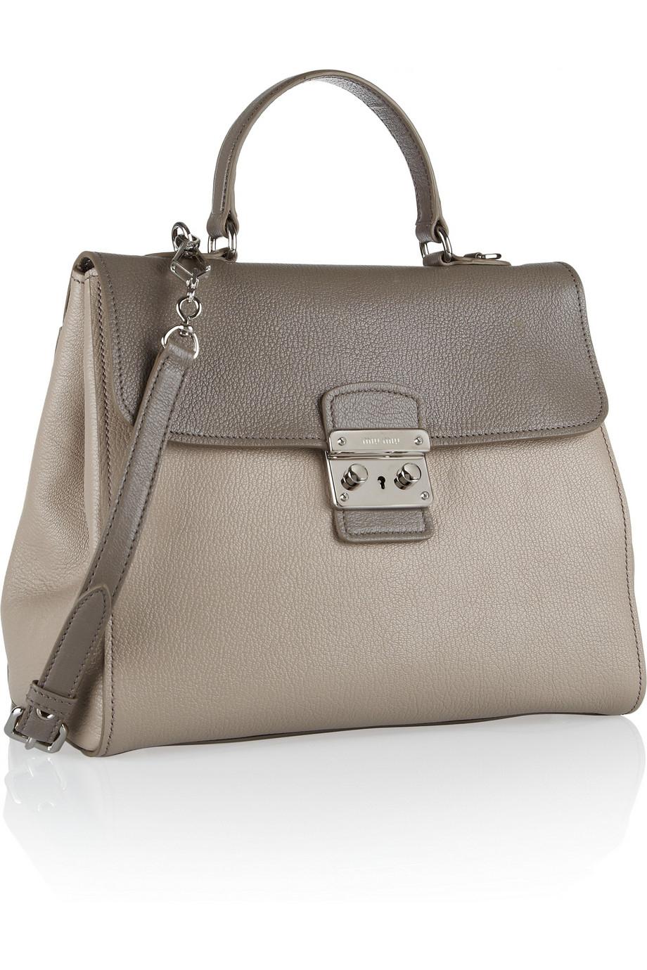 f30f4b4d1d6a Miu Miu Pattina Madras Two-Tone Textured-Leather Shoulder Bag in ...