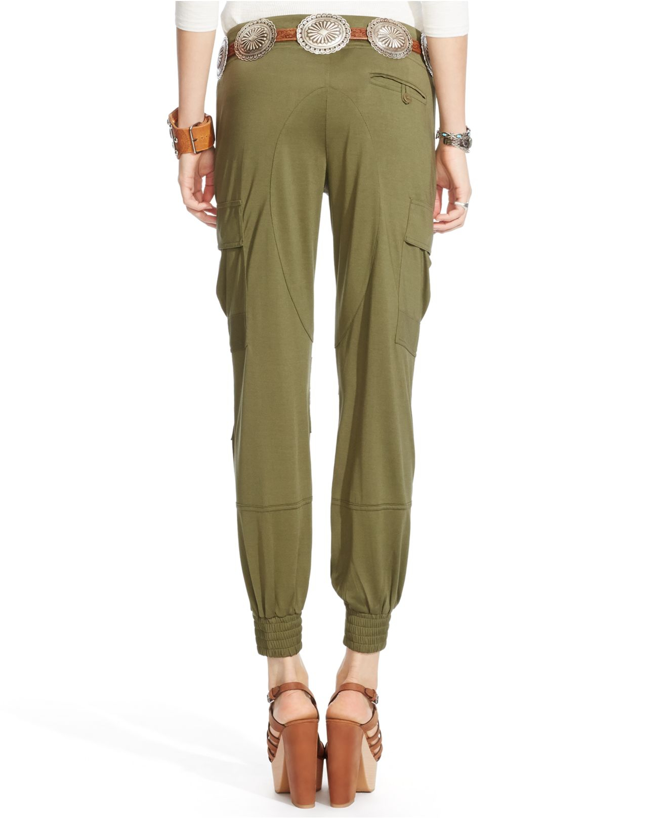 Polo ralph lauren Silk Military Cargo Pants in Green