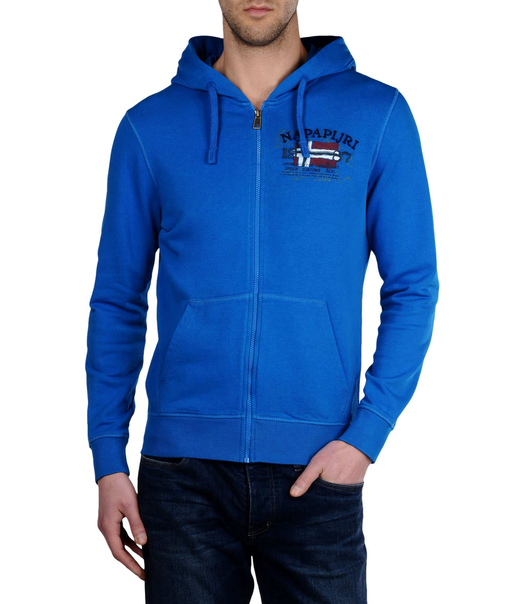 Napapijri Zip Sweatshirt In Blue For Men Lyst