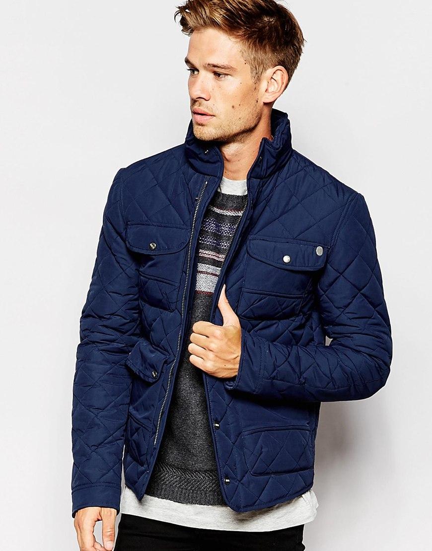 pepe jeans pepe heritage quilted jacket huntsman concealed. Black Bedroom Furniture Sets. Home Design Ideas