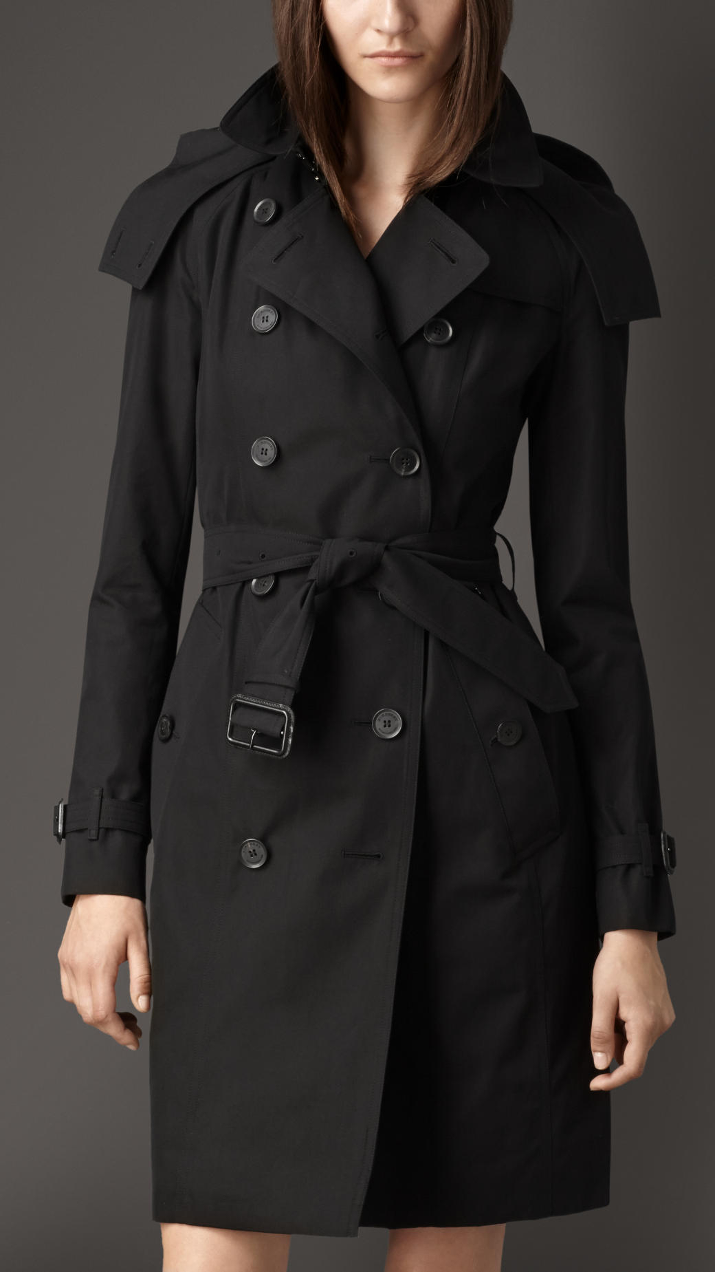 Burberry Väska 2014 : Lyst burberry long gabardine hooded trench coat with